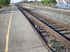 Rocklin station platform and track
