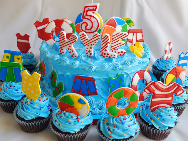 Beach Pool Themed Cakes A Gallery On Flickr