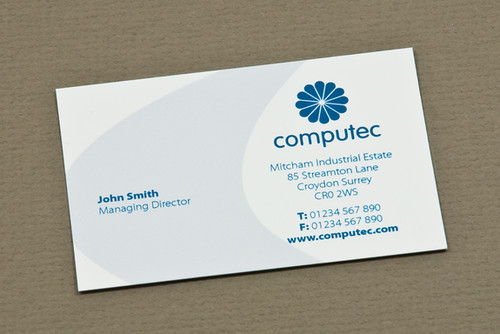 Blue it consulting business card