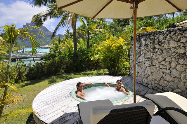 InterContinental Bora Bora Resort & Thalasso Spa Deep Ocean Spa private jacuzzi