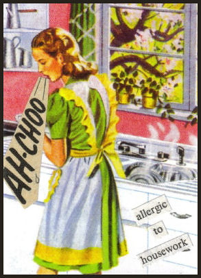 Allergic to Housework ACEO Collage