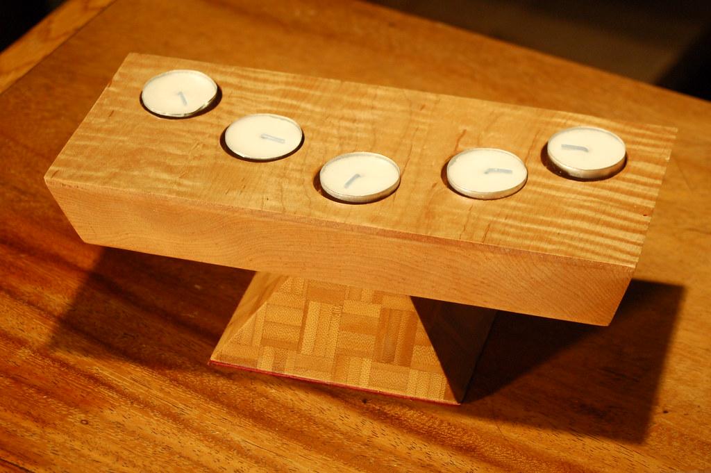 Maple-Bamboo Candleholder