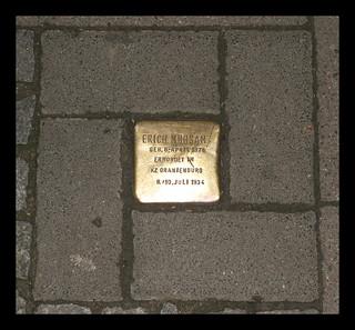 Image of Erich Mühsam. city germany deutschland nazis luebeck lübeck sh buddenbrookhaus stolpersteine innenstadt schleswigholstein juden hansestadt verfolgung 3reich nsdap erichmühsam buddenbrocks