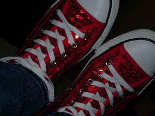 Red Sequined Converse