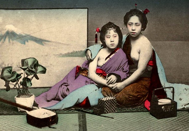 HALF-NAKED GEISHA ON A HOT SUMMER NIGHT -- or, How The Postcard Sellers Made a Mint in Old Meiji-Era Japan ! (#5)