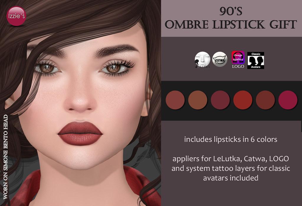 90's Ombre Lipstick Gift (@ Rewind) - SecondLifeHub.com