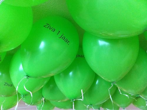 Heliumballonnen Bedrukt Ziva 1 Jaar