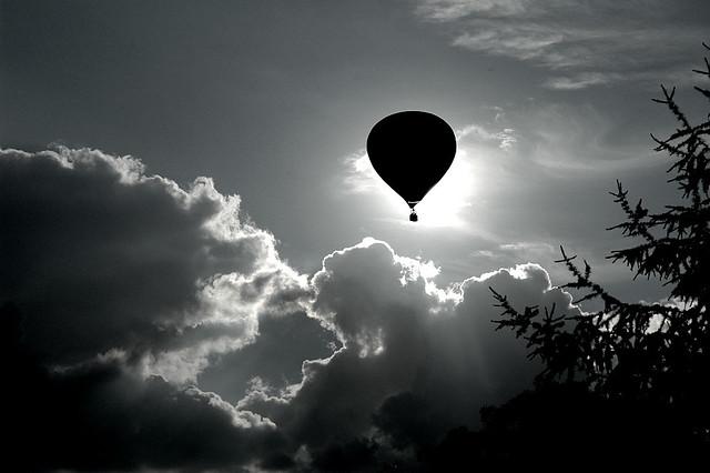 Ballon im Gegenlicht
