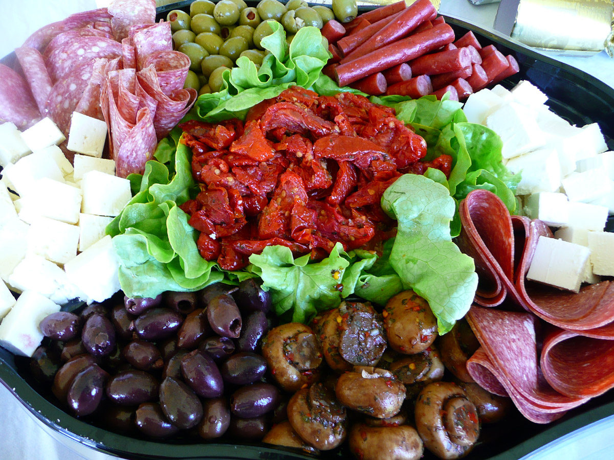 Antipasto platter from