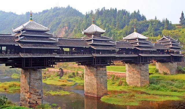 Puente del Viento y la Lluvia de Chengyang. Provincia de Guangxi. China
