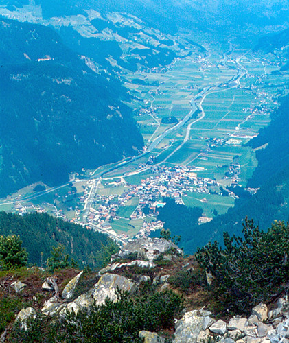 A view of the spectacular Ziller Valley, Austria