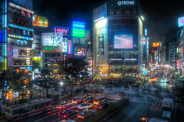 Shibuya Night (HDR)