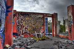Abandoned with Graffiti (HDR)