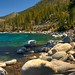 Lake Tahoe and boulders