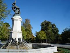 Ángel Caido. Parque del Retiro. Madrid.