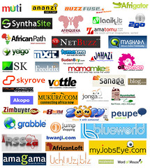 Logos of African internet companies