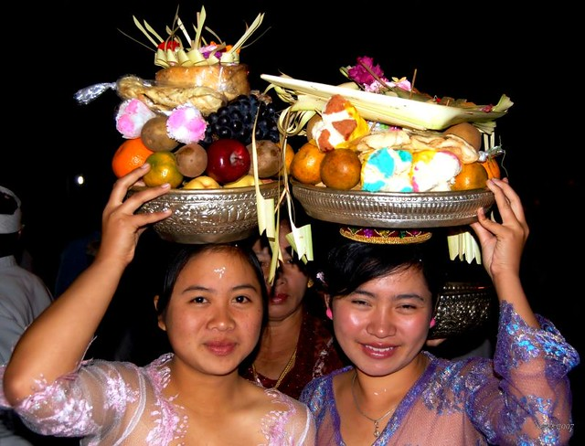 Full Moon Offerings..Bali