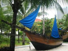 longship(0.0), mast(0.0), hammock(0.0), viking ships(0.0), sailboat(1.0), vehicle(1.0), caravel(1.0), watercraft(1.0), boat(1.0),