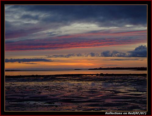 ireland sunset sea galway beach blueribbonwinner