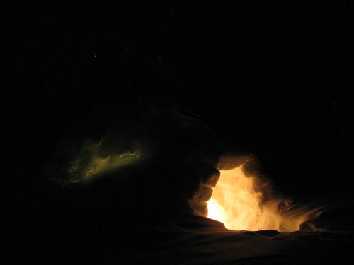 norway norge nightimages igloo iglu valdres oppland ellingsaeter