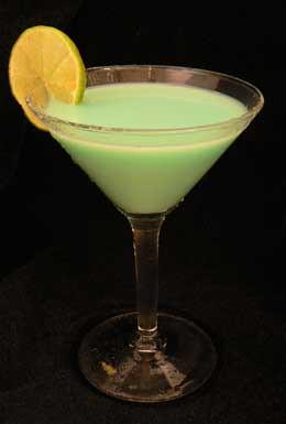 Midori-Sour Mixed Drink Cocktail