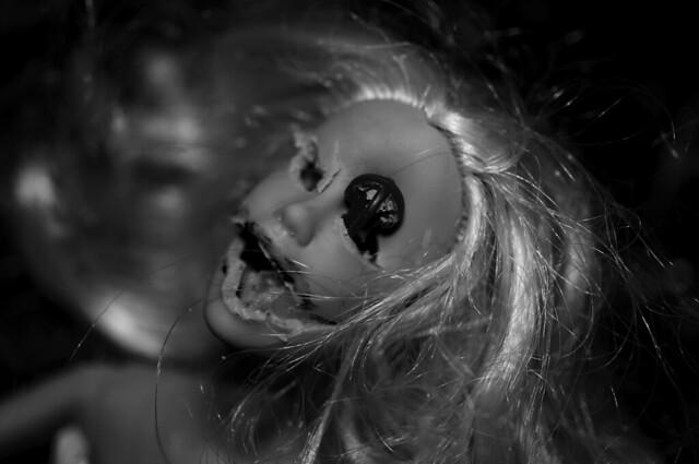 nightmare come true barbie b+w