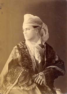 180. Dame turque voilée (Veiled Turkish Lady) - 1880s Albumen Photograph by Pasqual Sébah