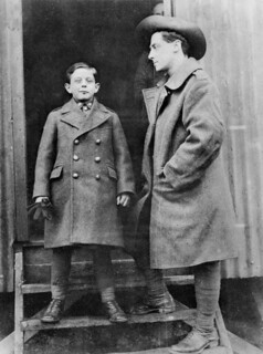 An unidentified Australian soldier with French orphan boy 'Digger', Henri Heremene.