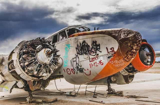 Grounded Lockheed PV-2