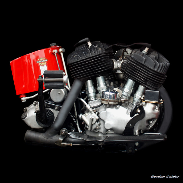 NO 29: VINTAGE 1937 HARLEY DAVIDSON FLATHEAD MOTORCYCLE ENGINE - a ...