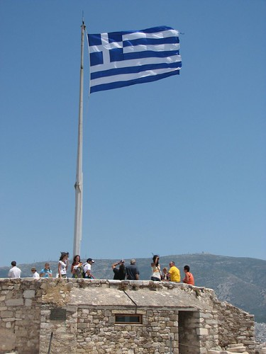 Flag on the Acropolis
