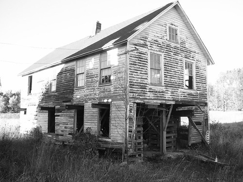 white black building abandoned barn rural decay massachusetts collapse route20 bostonroad
