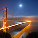 Golden Gate & Full Moon, Panorama by Tyler Westcott