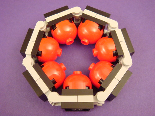 Rigid heptagon with domes
