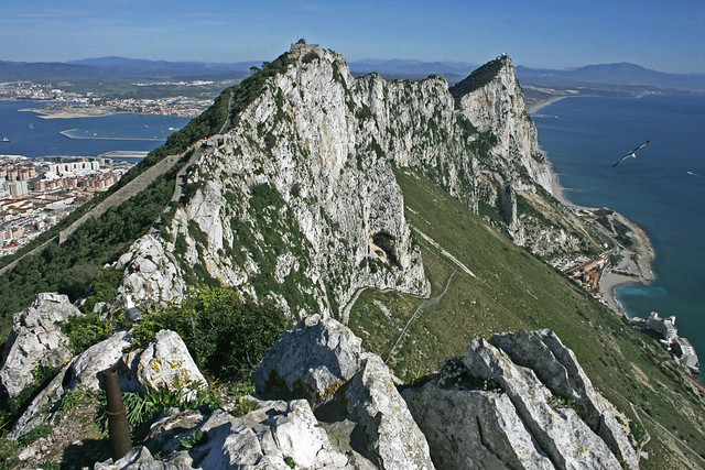 The Rock and La Linea, Gibraltar - Image by Flickr user chantrybee