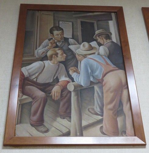 georgia ga postoffices toombscounty vidalia newdeal mural danielcelentano northamerica unitedstates us townhalls