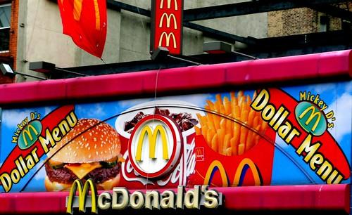 McDonalds Dollar Menu, Greenwich Village, New York City, New York, United States of America
