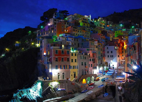The famous colorful village on the sea