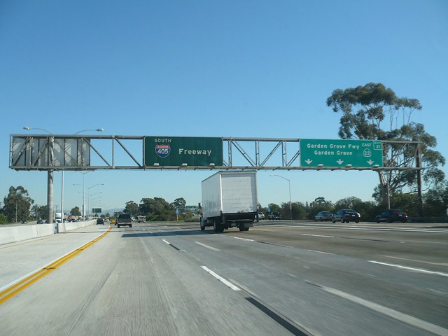 Interstate 405 San Diego Freeway Southbound In Seal Beach