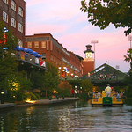 Bricktown Sunset from a Water Taxi on the Bricktown Canal