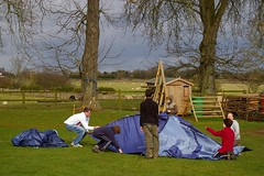 A hike camp along the Kennet and Avon Canal