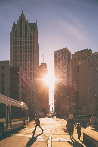 detroit detroitmichigan michigan puredetroit puremichigan opportunitydetroit skyline urban city streetphotography sunset flare downtowndetroit detroitcity detroithustlesharder detroitvseverybody nikon nikond4 d4 24mmtiltshift tiltshift ryansouthen ryansouthenphotography urbanphotography