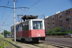 Ulan-Ude tram 71-605 overhead wiring control SI