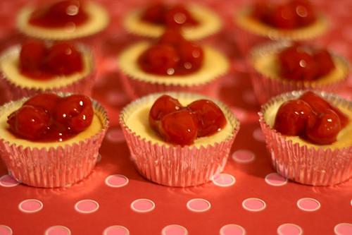 Mini Cherry Cheesecakes | Flickr - Photo Sharing!