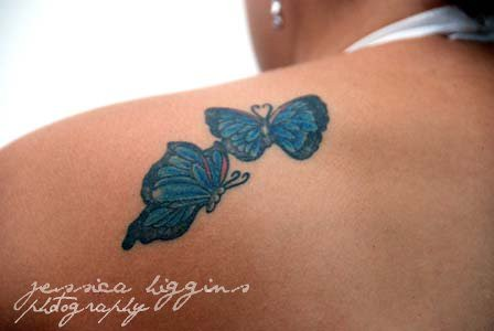 Excellent Butterfly Tattoos on Shoulder