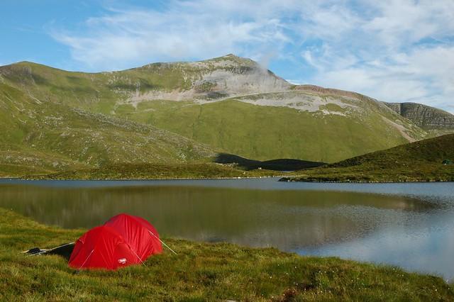 Camp at Coire an Lochain and Binnien Mor