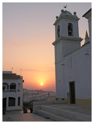 sunset portugal church algarve aljezur