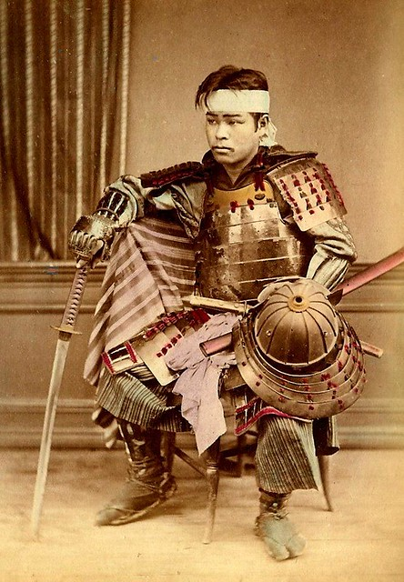 READY FOR BATTLE -- A Young Japanese Samurai On His Way to War (or
