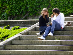 couple on steps