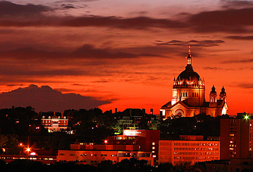 sunset sky cathedral saintpaul fiery